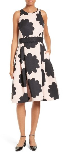 Kate Spade Women's Kate Spade New York Petal Stamp Fit & Flare Dress
