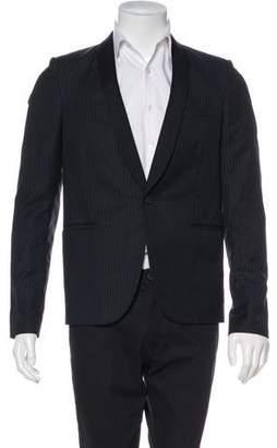 Saint Laurent Striped Tuxedo Jacket