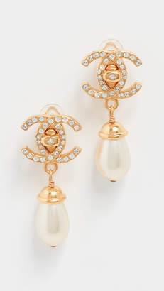 Chanel What Goes Around Comes Around CC Dangling Earrings