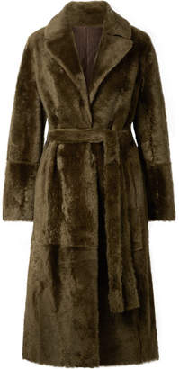 Yves Salomon Lacon Reversible Shearling Coat - Dark green