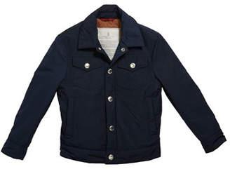 Brunello Cucinelli Boy's Safari Pocket Jacket, Size 4-6