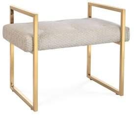 Caine Maze-Cut Velvet Bench