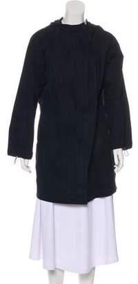 Lafayette 148 Belted Hooded Coat