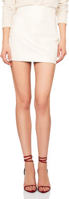 Saint Laurent Classic High Waisted Leather Mini Skirt