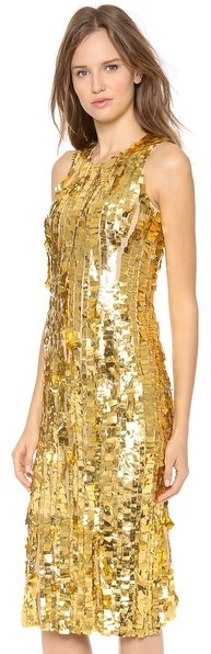 Wes Gordon Silk Sheath Dress