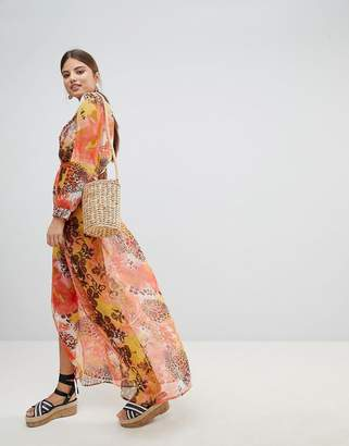boohoo Printed Beach Maxi Dress