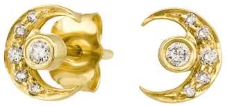 Celine Daoust Moon And Earth Diamond Stud Earrings