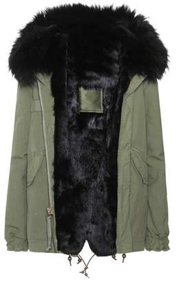 Mr & Mrs Italy Mini fur-lined cotton parka