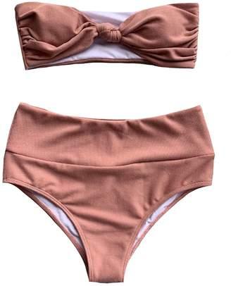 Goodnight Macaroon 'Lupa' Tied Front High Waist Bikini Set