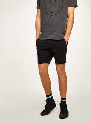 Topman Black Stretch Skinny Fit Chino Shorts