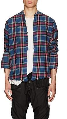 Greg Lauren Men's Plaid Cotton Flannel Studio Shirt