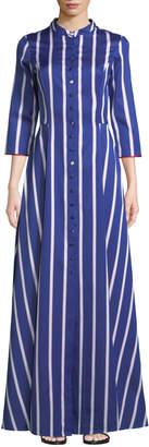 Evi Grintela Carine Long Striped Shirtdress