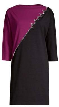 Marc Jacobs Colorblock Rhinestone Shift Dress