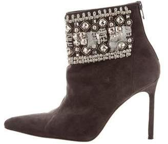 Manolo Blahnik Embellished Pointed-Toe Boots