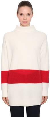 Calvin Klein Oversized Wool Blend Rib Knit Sweater
