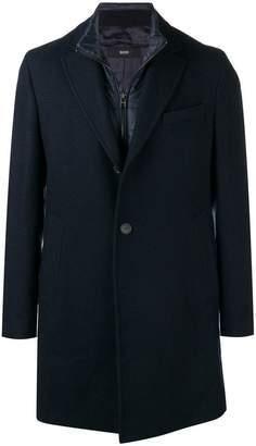 HUGO BOSS single-breasted overcoat