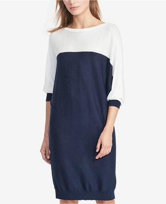 Lauren Ralph Lauren Colorblocked Dress $149 thestylecure.com