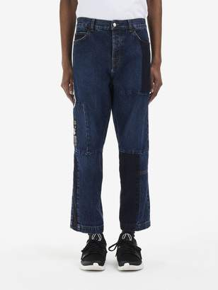 McQ Patchwork Recycled Cropped Jeans