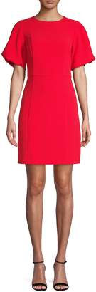 Eliza J Puff-Sleeve Sheath Dress