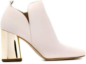 MICHAEL Michael Kors chrome heeled boots