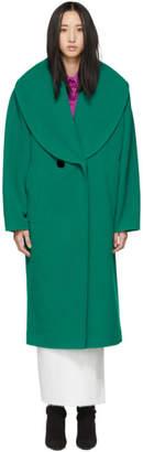 Marc Jacobs (マーク ジェイコブス) - Marc Jacobs グリーン ウール ショール カラー コート