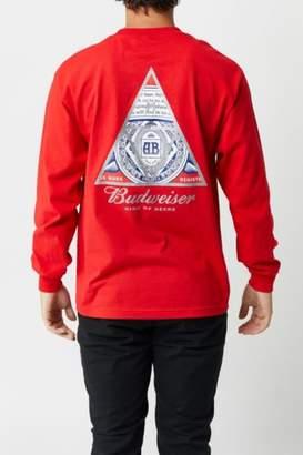 HUF x Budweiser Triangle Longsleeve T-Shirt