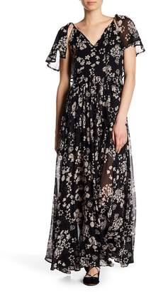 Rebecca Minkoff Kaspit Floral Crepe Maxi Dress