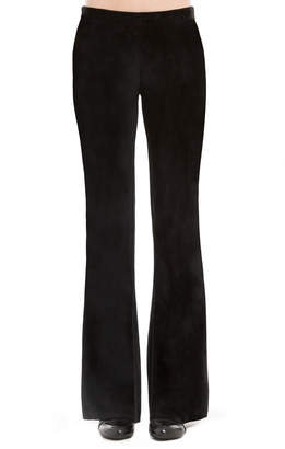 Max Studio stretch velvet flared trousers