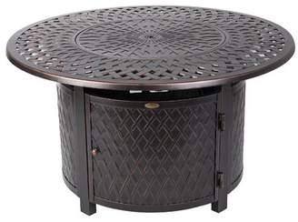 Fire Sense Verona Aluminum Propane Fire Pit Table