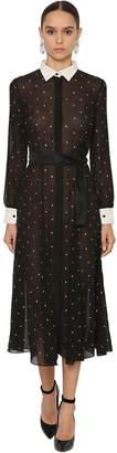 DANIELE CARLOTTA Embellished Silk Tulle Dress