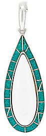American WestAs Is American West Turquoise Inlay & White Agate Enhancer