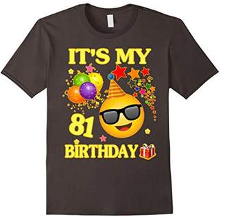 It's My 81st Birthday Shirt 81 Years Old 81st Birthday Gift