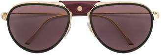 Cartier Santos aviator style sunglasses