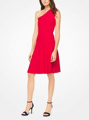 Michael Kors Asymmetrical Stretch-Knit Dress