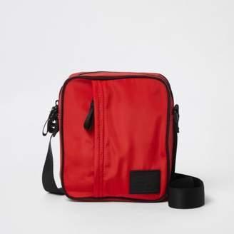 River Island Mens Red cross body mini messenger bag