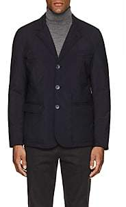 Herno MEN'S TECH-FABRIC THREE-BUTTON JACKET-NAVY SIZE L