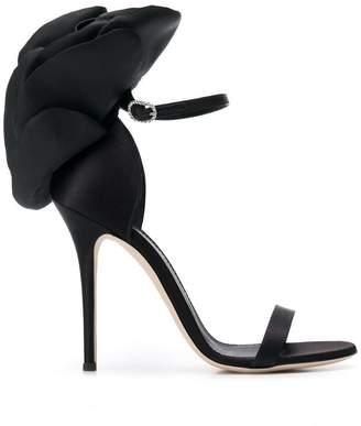 Giuseppe Zanotti Design petal-embellished satin sandals