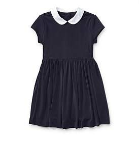Polo Ralph Lauren Contrast-Collar Crepe Dress(S-Xl)