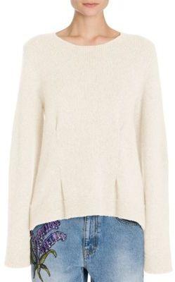 Alexander McQueen Oversize Cashmere Crewneck Sweater $1,145 thestylecure.com