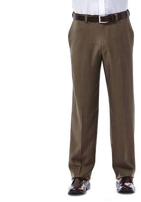 Haggar eCLo Stria Classic-Fit Flat-Front Dress Pants