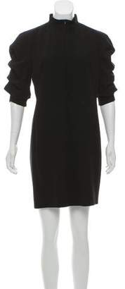 Akris Gathered Wool Dress