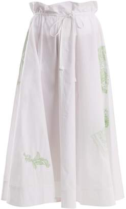 Acne Studios Hellah Pop floral-embroidered skirt