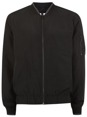 Topman Mens Black Bomber Jacket