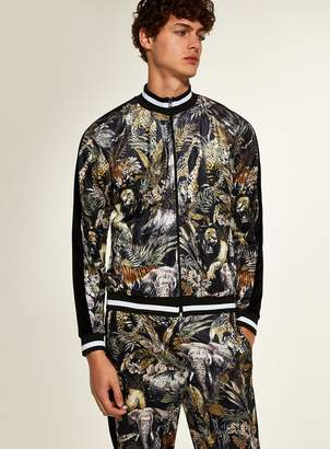 Topman JADED Safari Print Track Top*