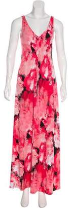 T Tahari Printed Maxi Dress