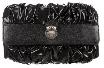 Marc JacobsMarc Jacobs Leather Trimmed Ruched Clutch