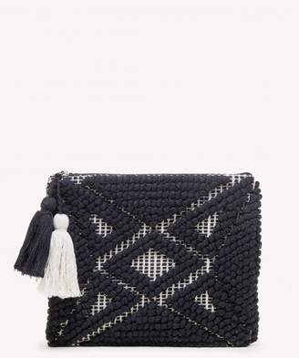 Sole Society Palisades Woven Pattern Pouch w/ Tassels