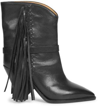 Isabel Marant Loffen Leather Mid-Calf Boots