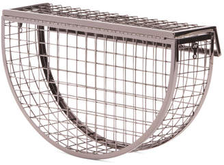 Basket Clutch With Inner Pouch