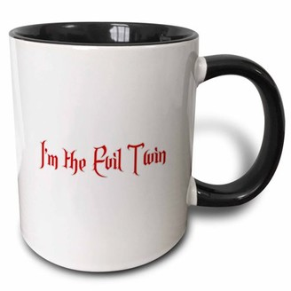 Evil Twin 3dRose Im the Two Tone Black Mug, 11-ounce